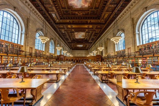 The Reading Room of the New York Public Library