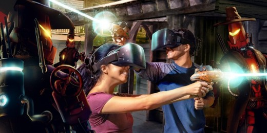 VR technology lets you battle robot cowboys in a dystopian future version the west at Knott's Berry Farm.