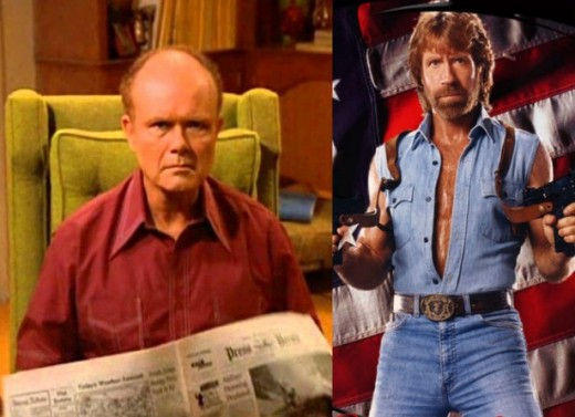 The Red that almost was: Chuck Norris almost portrayed the iconic character.