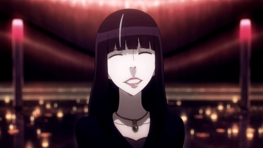 The Black-Haired Woman's trademark smile.