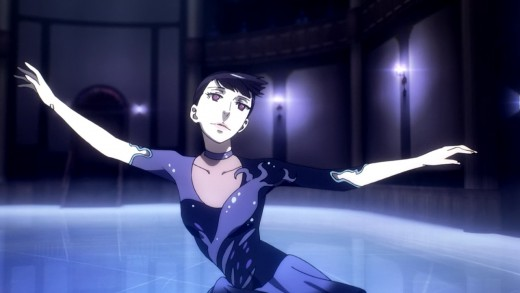 The Black-Haired woman skates in one of the most beautifully animated sequences in the series.