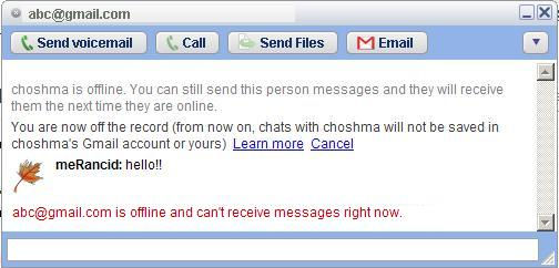 You will see this message when the user is really offline.