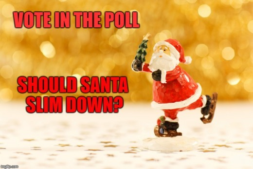 Should Santa change his diet and exercise more? What's your opinion?