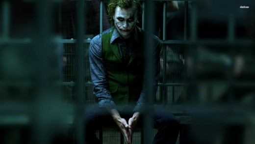 Heath Ledgers iconic portrayal of the Joker.