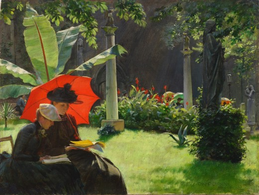 """Afternoon in the Cluny Garden, Paris"" 1889"