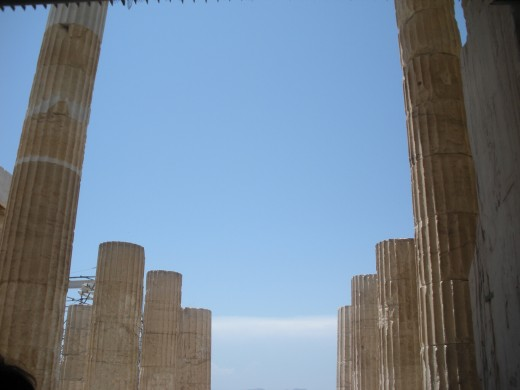 Columns at the Acropolis