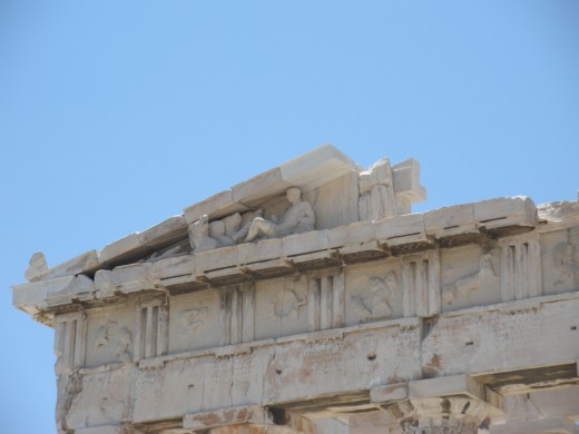 Detail on Parthenon
