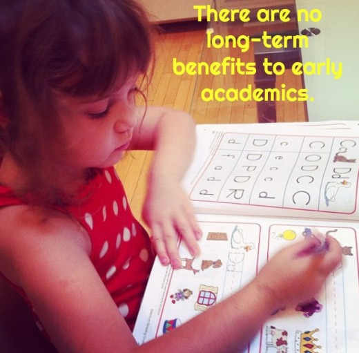 Early academics turn children off to learning at a time when they should be excited about it.