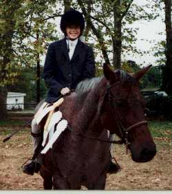 This is the 9 or 10 year old me. At the time my goal was to ride Frostline forever! Then it moved on to being a professional horsewoman later in life. To a point, I have achieved that goal, but I'm still working and learning everyday.