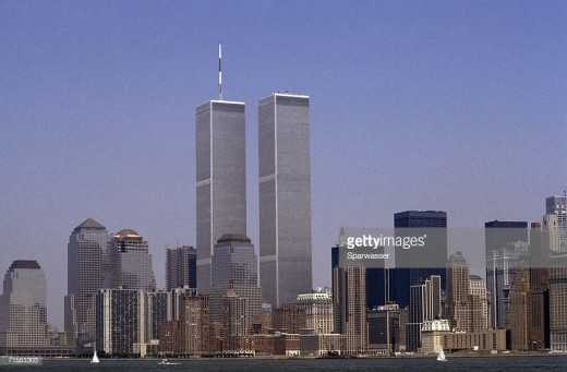 World Trade Twin Towers before attack of 9/11