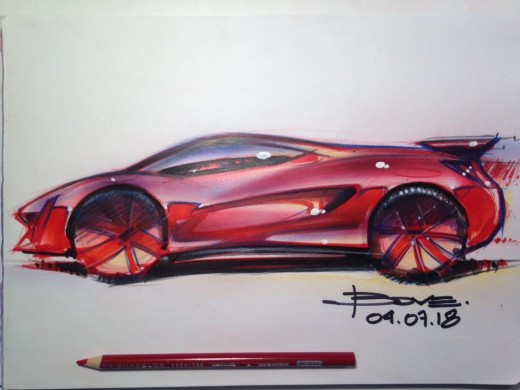 Color Sketch by designer Luciano Bove