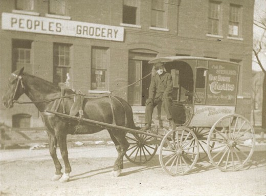 Historic photo of the People's Grocery.