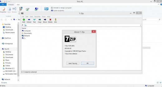 I use 7-Zip often and I like using it.