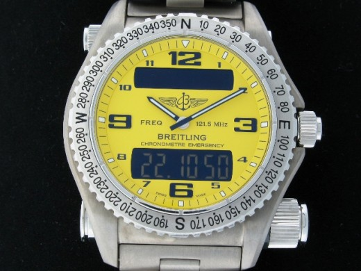 Breitling Emergency - 42mm Brushed Titanium Case