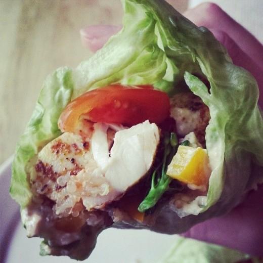 Healthy lettuce wrap