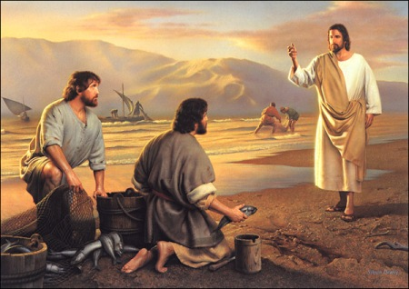 """Follow me and I will make you fish for people"" (Mk 1:17)."