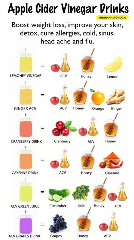 Apple cider vinegar drinks for your health