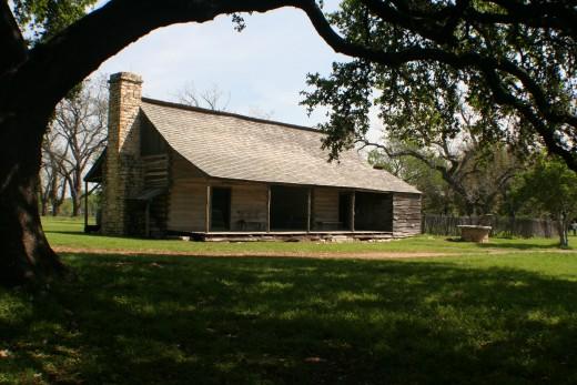 The homestead where LBJ was born near Johnson City, Texas.