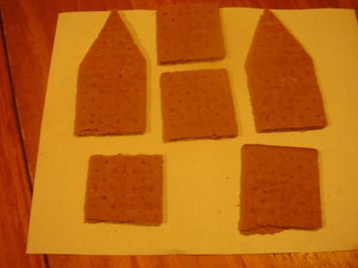 How to cut the graham crackers if they are rectangles