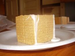 Step i: square crackers