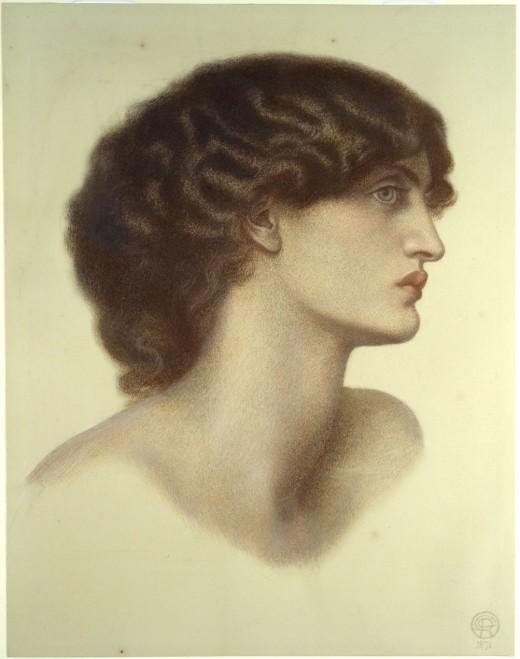 Jane Burden Morris  Perlascura circa 1871