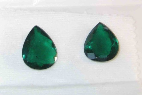 Expensive pair of fine quality Emerald pears from Zambian mines