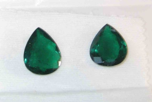 Pair of high quality expensive and big sized emerald pair from Zambian mines.