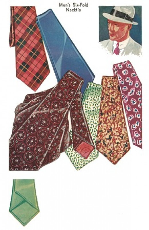 example of men's ties