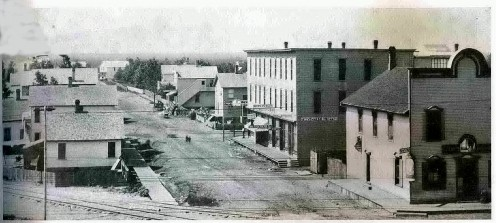 A typical street of the 1880s