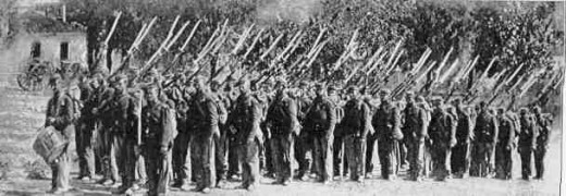 22nd NY troops about to march to Company Drill