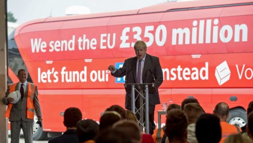 News Thump published image and story lampooning Boris Johnson and the EU Leave campaign ahead of G.E. 2017