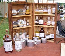 A Civil War-era medicine chest