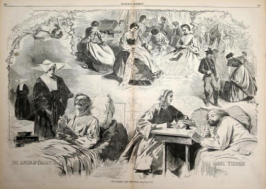 Illustration of efforts made by the ladies for the Union during the war.
