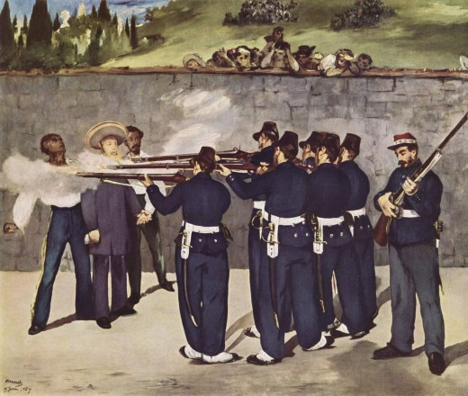 The execution of the Mexican emperor.