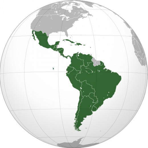 The Latin American countries, a geographic product of the idea of pan-latinism.
