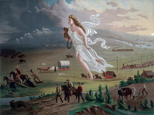 Manifest destiny raised severe concerns about the balance of power in North America, with the spectre of American domination of the continent.