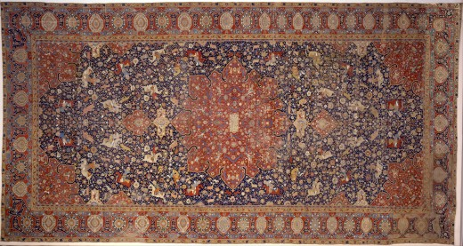 A Persian rug, an artistic creation which made the breakthrough to being, well, art, instead of just a decoration.