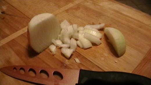Store bought onion.