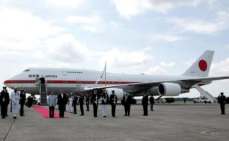 The Japanese Self Defense Force also has two 747-400s in its Prime Minister's Fleet.