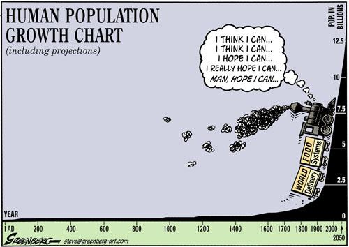 Not to worry, God has a reduction in population plan.