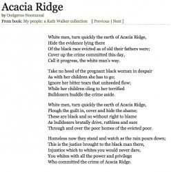 Racism in Oodgeroo Noonuccal's Poem 'Acacia Ridge'