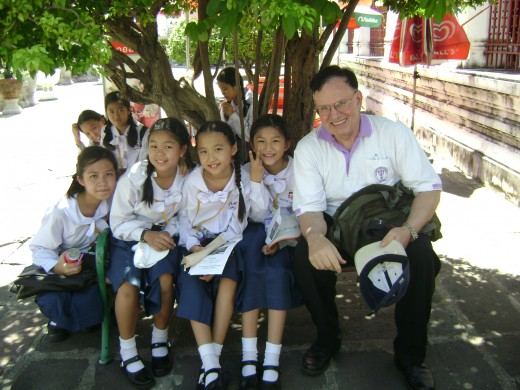 On a field trip with my 6th grade students at Saint Joseph Bangna, Thailand, 2010.