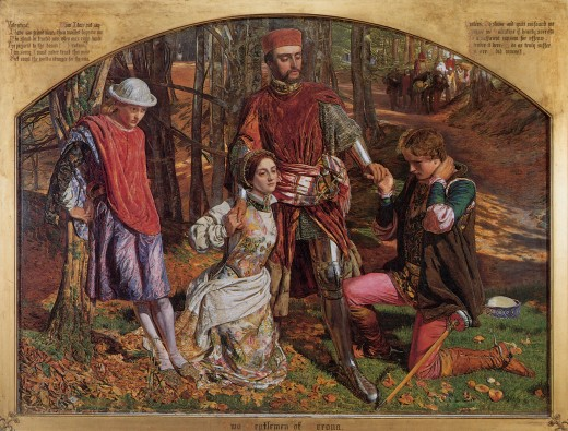 Two Gentlemen of Verona, Valentine Rescuing Sylvia From Proteus between 1850 and 1851 by William Holman Hunt