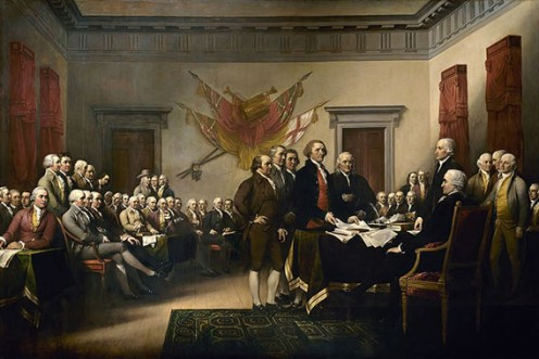 John Trumbull's painting, the declaration of Independence