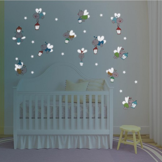 Use these peel and stick decals for a magical baby's room.