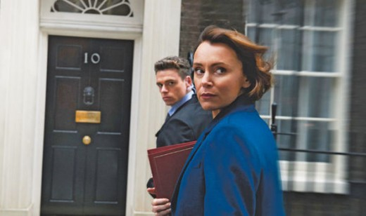 The two main characters the British Home Secretary and her bodyguard