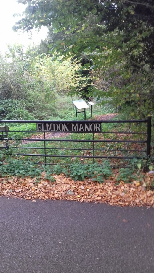 The entrance to Elmdon Manor Local Nature Reserve, otherwise known as The Shire to me.