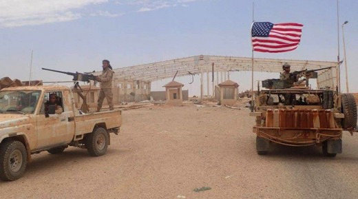 American forces south of Homs, Syria