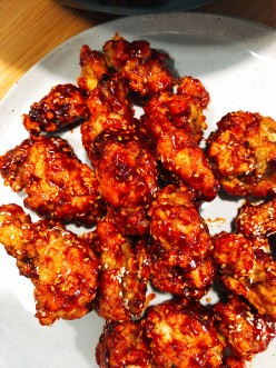 Sweet and Spicy Korean Fried Chicken