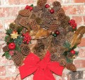 Natural Christmas and Bird Wreaths to Brighten the Season